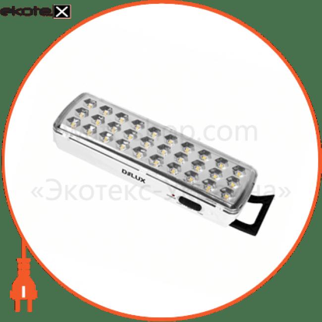 світильник світлодіодний аварійний delux rel-501led (3.7v1,2ah) 30 led 2w 202x68x40 акумуляторний светодиодные светильники delux Delux 90008960