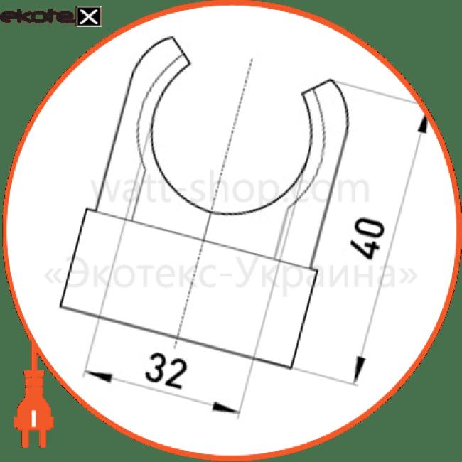 s9035004 Enext трубы металлические и аксессуары u-образна кліпса e.pipe.u.clip.stand.32 для труб d32мм