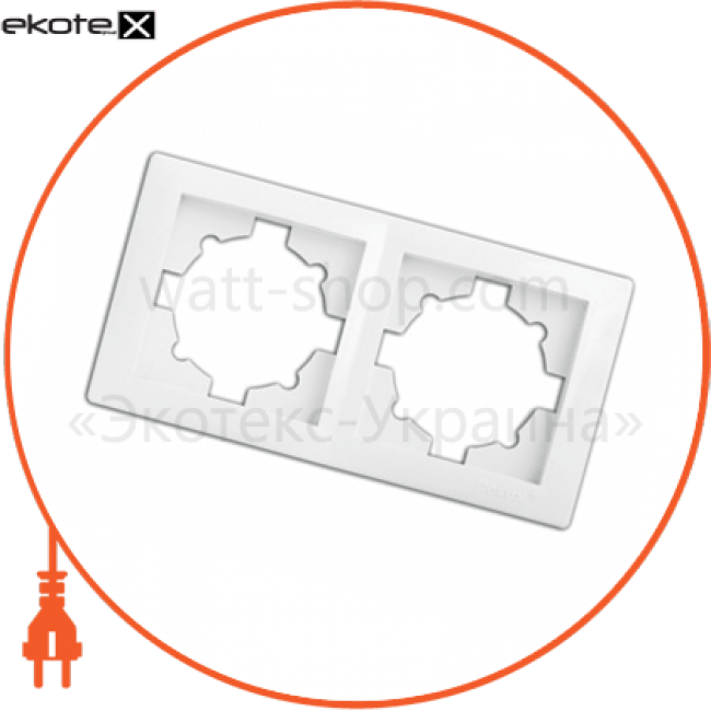 рамка wega 9302 2-секційна біла рамка Delux 10040367