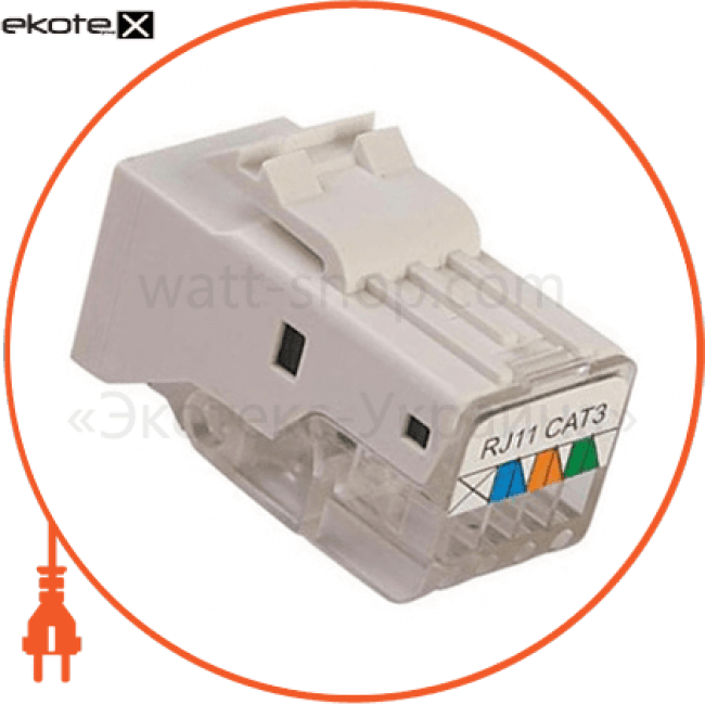 конектор телефонний (1x4) лотки металлические и аксессуары Enext ADK-050009