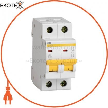 IEK MVA20-2-016-C автоматический выключатель ва47-29 2р 16а 4,5ка с iek
