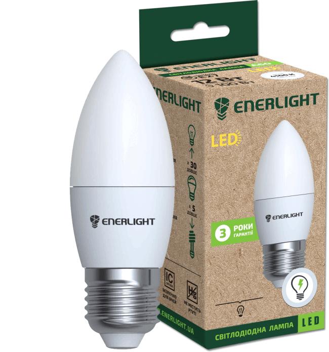 лампа світлодіодна enerlight с37 6вт 4100k e27 светодиодные лампы enerlight Enerlight C37E276SMDNFR