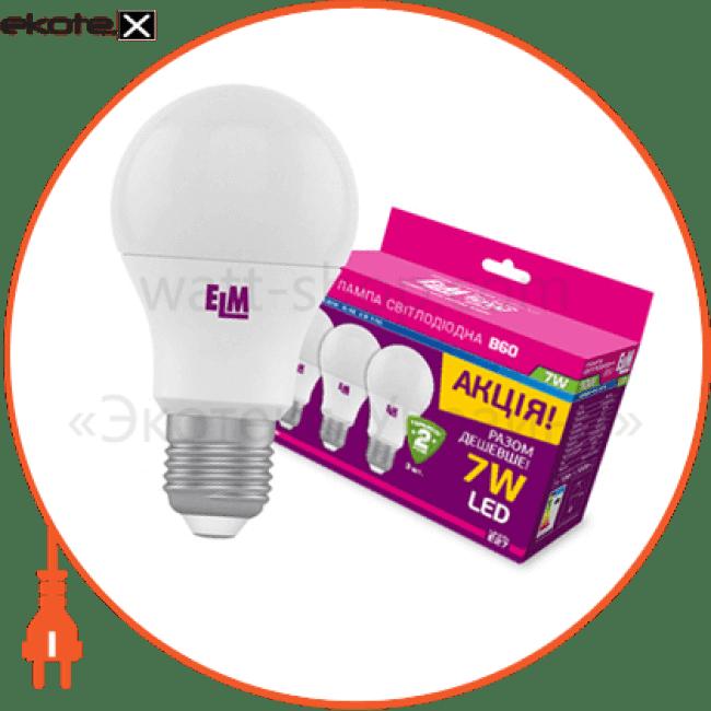 b60 7w pa10l e27 4000 3шт светодиодные лампы electrum ELM 18-0119