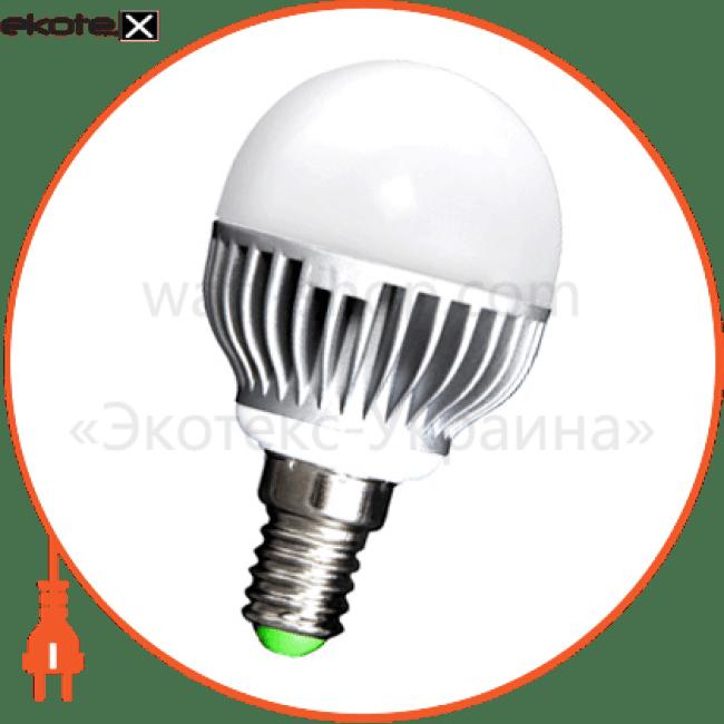 Лампа светодиодная e.save.LED.G45M.E14.5.4200 тип шар, 5Вт, 4200К, Е14 (ал)