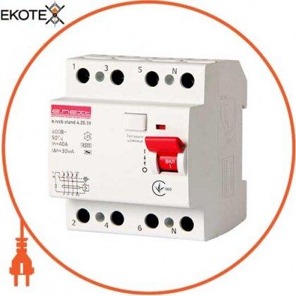 Enext s034009 выключатель дифференциального тока e.rccb.stand.4.25.10 4р, 25а, 10ma