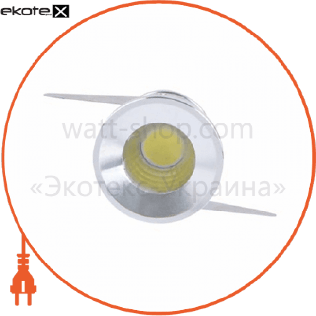 g771 led 3w/230v алюминий, круглый 6500k светодиодные светильники feron Feron 28781
