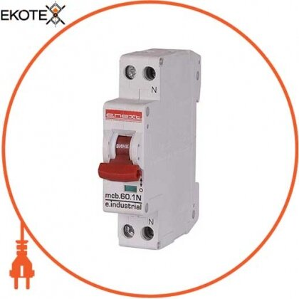 Enext i0170004 модульный автоматический выключатель e.industrial.mcb.60.1n.c20.thin, 1p+n, 20а, c, 6ка