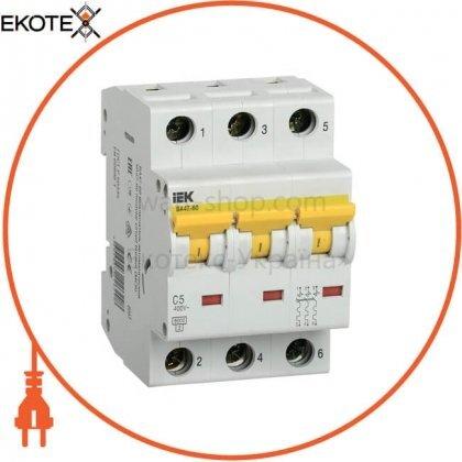 IEK MVA41-3-005-C автоматический выключатель ва47-60 3р 5а 6ка с iek