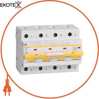 Автоматический выключатель ВА47-100 4Р 100А 10кА С IEK