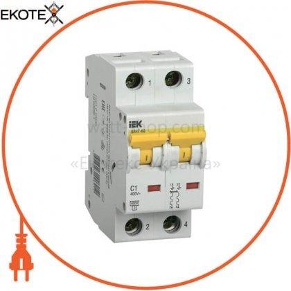 IEK MVA41-2-001-C автоматический выключатель ва47-60 2р 1а 6ка с iek