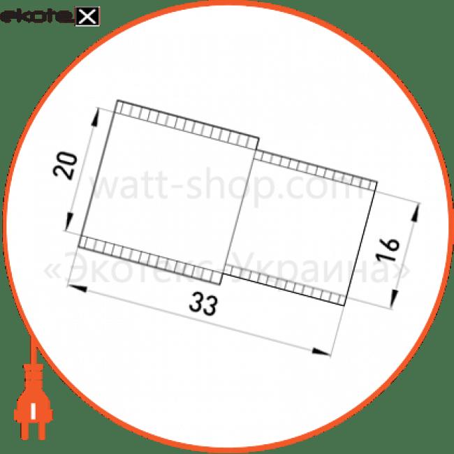 s5035001 Enext трубы металлические и аксессуары перехідник e.pipe.bts.connect.stand.16.20 для труб d16-20мм