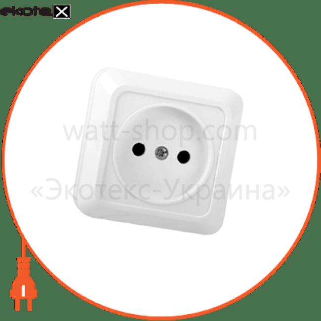 розетка накл. 2к оd-10 simply розетка ELM 41-0005