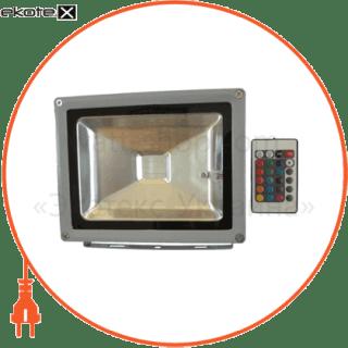 8250 Optima светодиодные светильники optima прожектор led_alfa_20w_6500к_сірий_rgb_контролер (08250)
