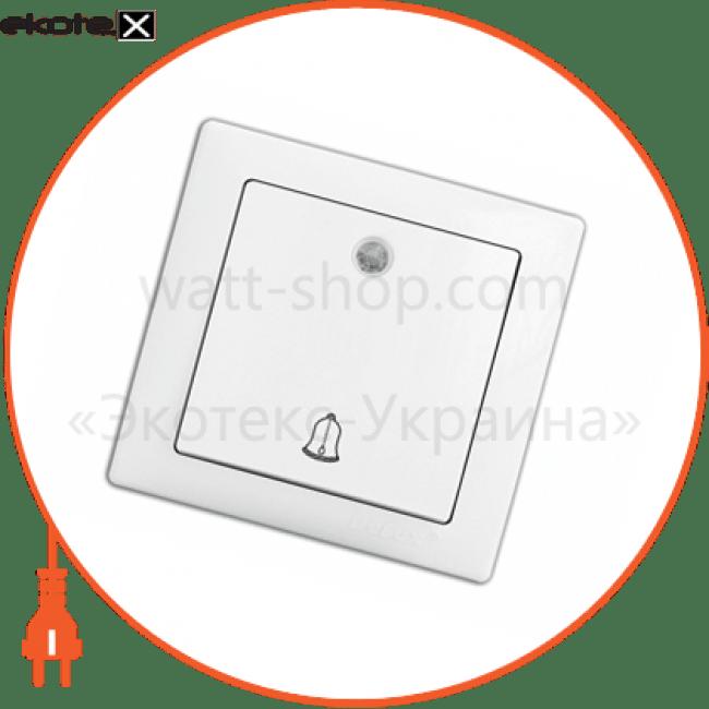 10040340 Delux выключатель вимикач wega 9126 дзвоник з підсвічуванням білий