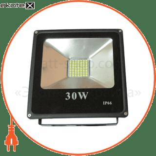 led прожектор 30w 5000к чёрний светодиодные светильники optima Optima 8721
