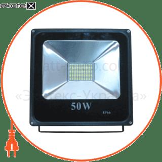 led прожектор 50w 5000к чёрний светодиодные светильники optima Optima 8724