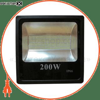 led прожектор 200w 6500к чёрний светодиодные светильники optima Optima 8727
