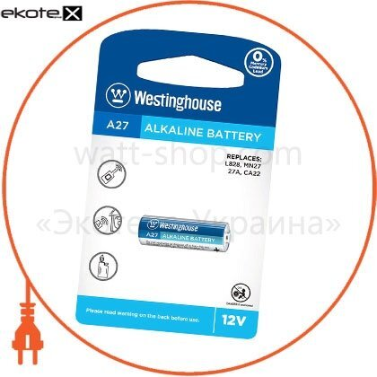 Westinghouse A27-BP1 щелочная аварийная батарейка westinghouse remote control alkaline a27 12v 1шт/уп blister