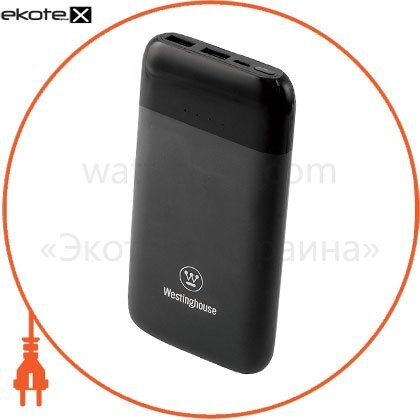 Westinghouse WP10-100CB мобильный аккумулятор (литий-полимер) стандартной зарядки 10 000mah 3.7v на 2 выхода usb 2.1 a = 5v, каждый.