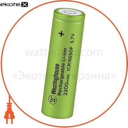 Westinghouse ICR18650F-2200 аккумулятор литий-ионный westinghouse li-ion icr18650, 3,7v, 2200mah, 1шт