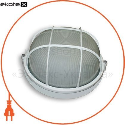 Ecostrum 68670 светильник 100w круг белый с решеткой