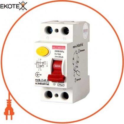 Enext i0220002 выключатель дифференциального тока e.industrial.rccb.2.40.30, 2р, 40а, 30ма
