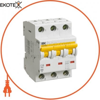 IEK MVA41-3-020-C автоматический выключатель ва47-60 3р 20а 6ка с iek