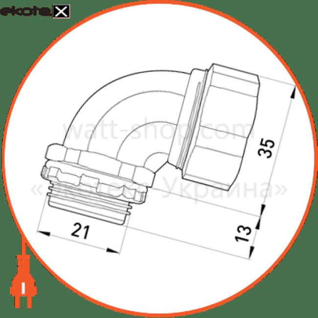 """ввід кутовий e.met.angle.stand.sldx.18 для металорукава 18мм(3/4"""")"""