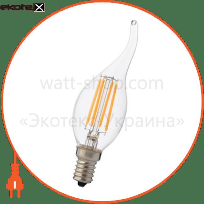 """лампа светодиодная """"filament flame - 4"""" 4w свеча на ветру е14 4200к, 2700к светодиодные лампы horoz eelectric Horoz Eelectric 001-014-0004"""