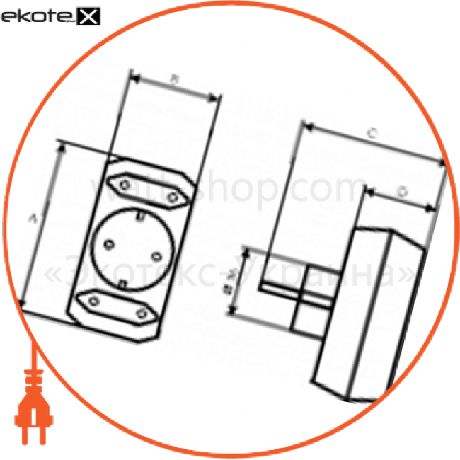 C-SS-0695 Electrum тройник разветвитель ss-3c комбинированный  - c-ss-0695