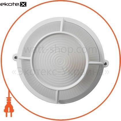 Ecostrum 72025 светильник нпп-65 круг белый опал.с решеткой пс-1051-11-2/1