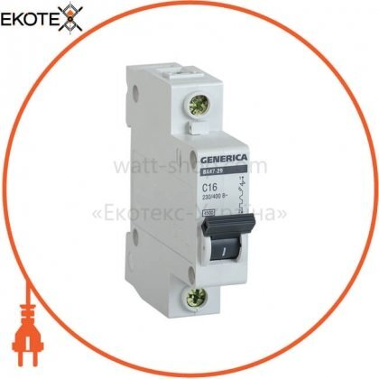 IEK MVA25-1-016-C автоматический выключатель ва47-29 1р 16а 4,5ка с generica