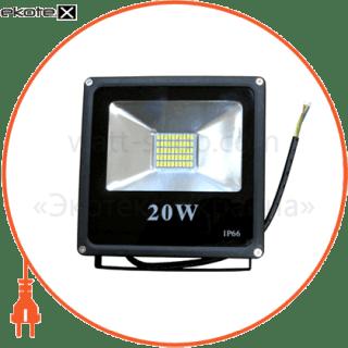 led прожектор 20w 5000к чёрный светодиодные светильники optima Optima 9034