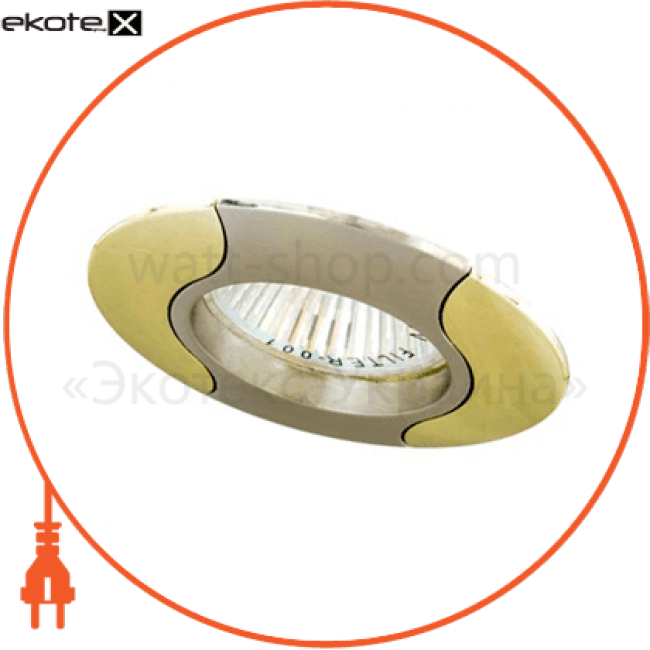 встраиваемый светильник feron 020 r-50 титан золото 17670 декоративные светильники Feron 17670