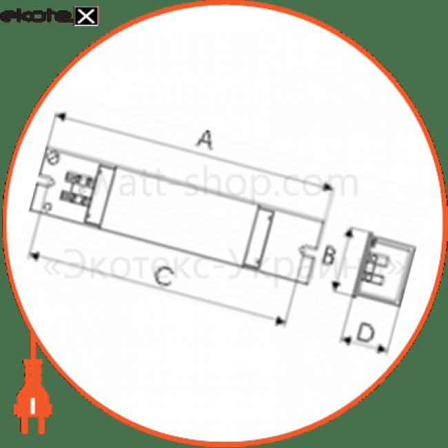 электромагнитный дроссель для люминесцентных ламп т8 mb-115  d-mb-1021 дроссель Electrum D-MB-1021