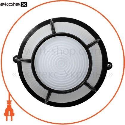 Ecostrum 72031 светильник нпп-65 круг черный опал.с решеткой пс-1052-11-4/1