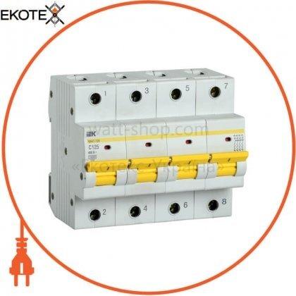 IEK MVA50-4-125-C автоматический выключатель ва47-150 4р 125а 15ка c iek