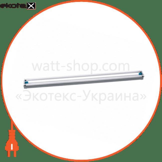світильник люмінесцентний flp 2x20w промышленные светильники delux Delux 10008486