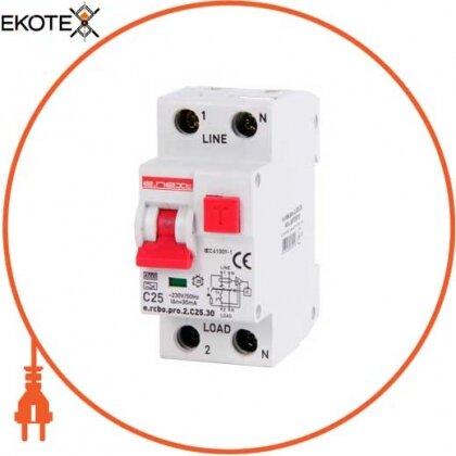 Enext p0720027 выключатель дифференциального тока с функцией защиты от сверхтоков e.rcbo.pro.2.c20.30, 1p+n, 20а, с, тип а, 30ма