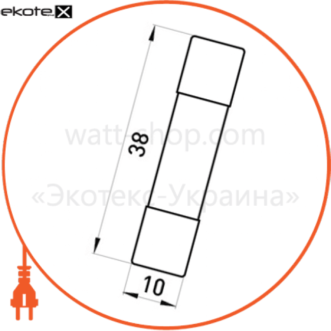 Enext i0610004 предохранитель e.industrial.fuse.10.38.8, 8 а