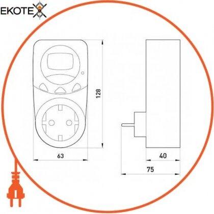 Enext i0310022 реле контроля напряжения однофазное розеточное e.control.v07
