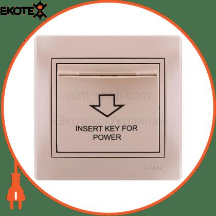 Lezard 701-3030-119 энергосавер (карточного типа с логотипом) 701-3030-119 цвет жемчужно-белый металлик задержка