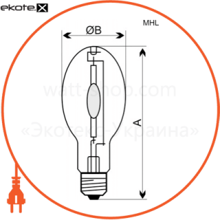 A-DM-0948 Electrum газоразрядные лампы electrum лампа металлогалогенная dm-150e ultralight / 4000k e27  - a-dm-0948