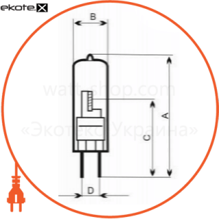 лампа галогенная капсульная 10w g4  - a-hc-0114 галогенные лампы electrum Electrum A-HC-0114