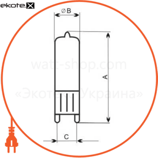 лампа галогенная капсульная 230v 40w g9  - a-hc-0121 галогенные лампы electrum Electrum