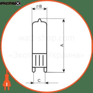 лампа галогенная капсульная 230v 40w g9 мат.  - a-hc-0122 галогенные лампы electrum Electrum