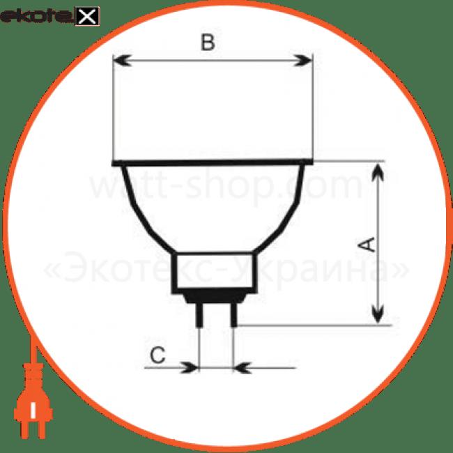 лампа галогенная mr-16 50w 38гр  - a-hd-0069