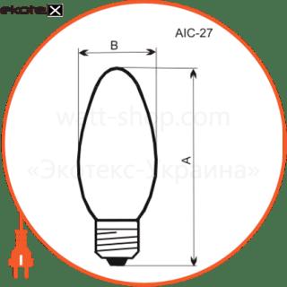 лампа свеча 40w e27  - a-ic-0018 лампы накаливания electrum Electrum A-IC-0018
