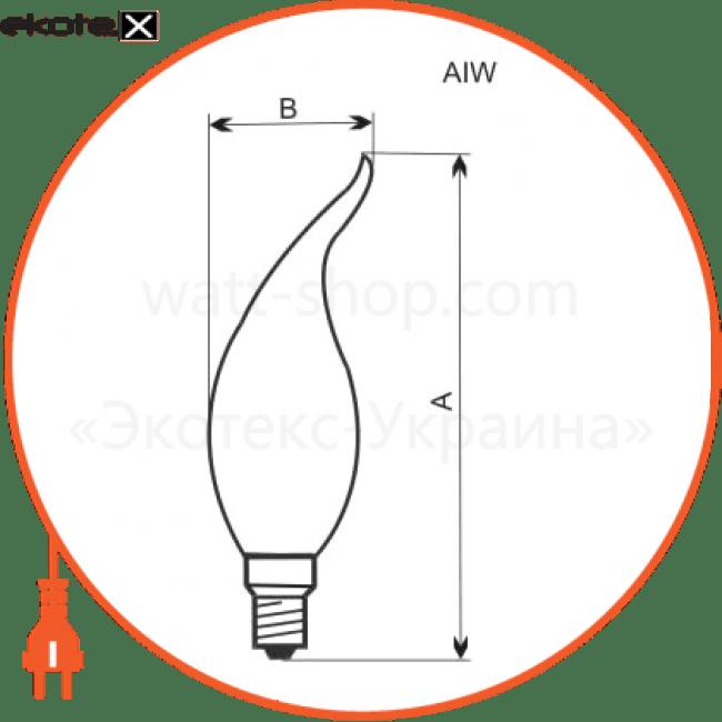 лампа свеча на ветру 60w e14 мат.  - a-iw-0389