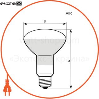 A-IR-0612 Electrum лампы накаливания electrum r63 75w e27 мат.